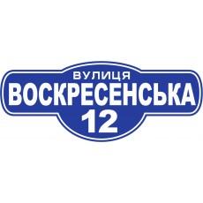 Табличка на будинок з назвою вулиці №02 (500х200мм)